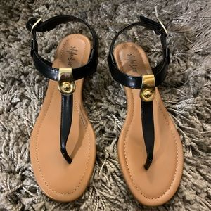 Style & Co. Sandals Black Buckle strap